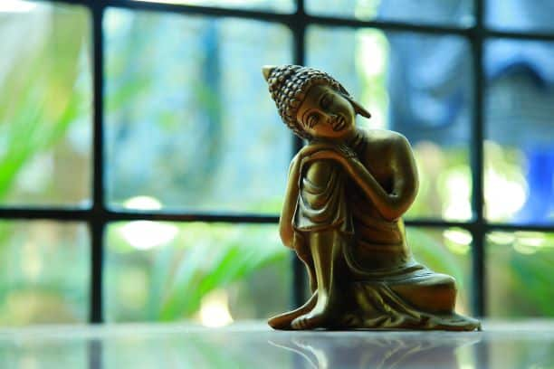 This is a picture of Buddha, sitting in deep thought, to depict my trading philosophy